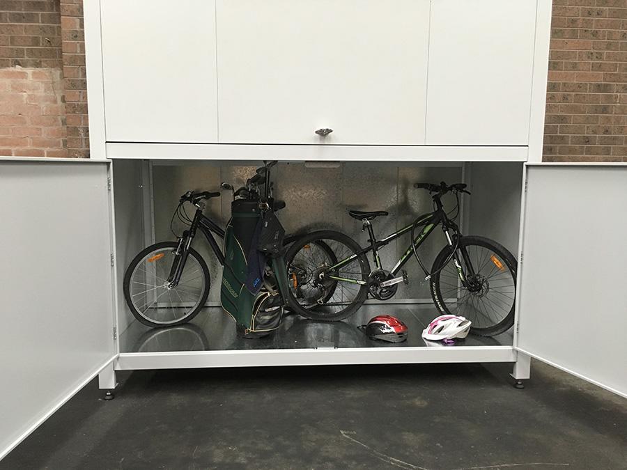 bicycle storage for apartment garage